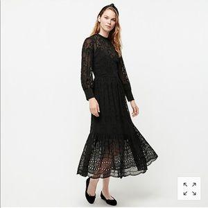 NWT J.Crew Embroidered Long Sleeve Midi Dress
